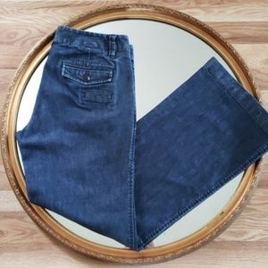 GAP The Trouser Blue Wide Leg Jeans Size 6
